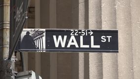 Wall Street, Finance, Manhattan, New York City stock video footage