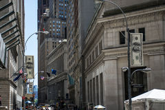 Wall Street Financial money district New York City USA Big Apple. Wall Street Financial money district in New York City USA Big Apple Royalty Free Stock Photography