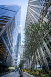Wall street. The financial world center, New York, USA Royalty Free Stock Photo
