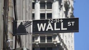 Wall Street, Finanzierung, Manhattan, New York City stock video