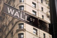 Wall Street firma adentro New York City Imagen de archivo
