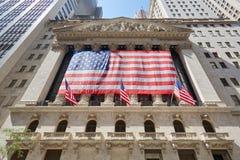 Wall Street giełdy papierów wartościowych budynku fasada w Nowy Jork Zdjęcia Stock