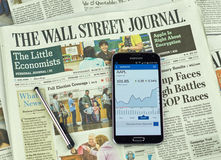 Wall Street Journal gazeta Fotografia Stock