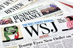 Wall Street Journal gazeta Obraz Stock