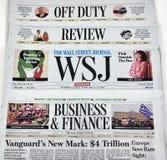 Wall Street Journal gazeta Obraz Stock