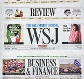 Wall Street Journal gazeta Zdjęcia Stock