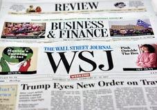 Wall Street Journal gazeta Zdjęcia Royalty Free