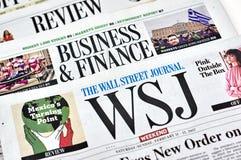 Wall Street Journal gazeta Obrazy Royalty Free