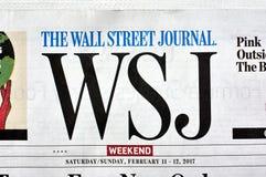 Wall Street Journal gazety logo Obraz Royalty Free