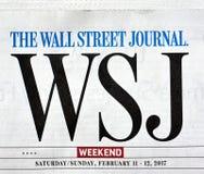 Wall Street Journal gazety logo Fotografia Royalty Free