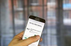 Wall Street Journal wisząca ozdoba app Obraz Royalty Free