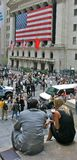 Wall Street - la Bolsa de Nuevo York Imagenes de archivo