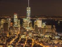Wall Street la nuit Photographie stock