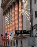 Wall Street in lager Manhattan Royalty-vrije Stock Fotografie