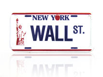 Wall Street Licence Plate Stock Images