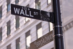 Wall Street and Main Street Royalty Free Stock Photos