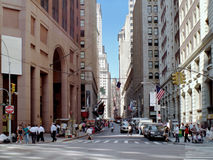 Wall Street Manhattan New York USA stock photo