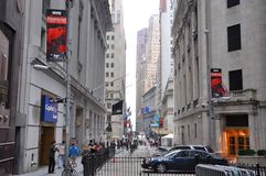 Wall Street, Manhattan, New York City Stock Photography