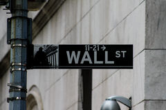 Wall Street, Manhattan, NYC. Royalty Free Stock Image