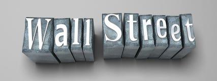 Wall Street media Stock Image