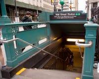 Wall Street metro Zdjęcia Stock