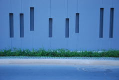 Wall beside street. This is modern style wall beside street.this place is in pataya thailand Royalty Free Stock Image