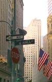 Wall Street a natale Fotografia Stock Libera da Diritti
