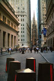 Wall Street New York lizenzfreies stockfoto