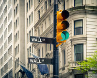 Wall Street, New York Stock Foto