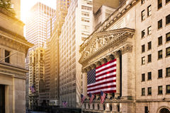 Wall Street a New York Immagine Stock