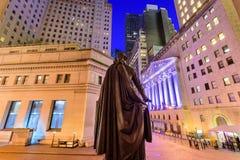Wall Street in New York Stock Foto