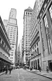 Wall Street royalty free stock photography
