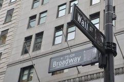 Wall Street, New York City, USA. Royalty Free Stock Photos