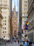 Wall Street on New York Financial District Royalty Free Stock Photo