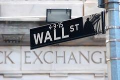 Wall Street New York Stock Exchange stock photos