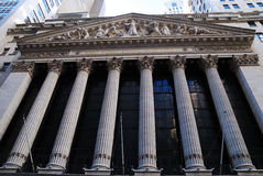 Wall Street New York Stock Exchange Royalty Free Stock Photography