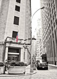 Wall Street and New York Stock Exchange Stock Photo
