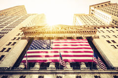 Wall Street New York Stock Exchange Entrance Royalty Free Stock Photo