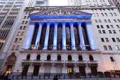 Wall Street New York Stock Exchange Stock Photography
