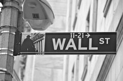 Wall Street and the New York Stock Exchange, New York City, USA. Stock Photos