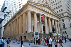 Wall Street and the New York Stock Exchange, New York City, USA. Stock Image