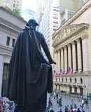 Wall Street and the New York Stock Exchange, New York City, USA. Stock Photos