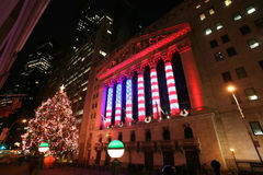 Wall Street New York Stock Exchange, the Royalty Free Stock Image