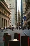 Wall Street Nueva York Foto de archivo libre de regalías