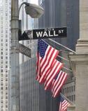 Wall Street NYC royalty-vrije stock afbeelding
