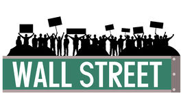 Wall street occupy Royalty Free Stock Photo