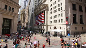 Wall Street- och materielutbyte arkivfilmer