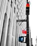 Wall Street: ¿Pare o vaya? imagen de archivo libre de regalías