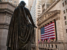 Wall Street. Portrait of Wall Street in New York city, USA Stock Images