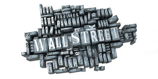 Wall Street in print Royalty Free Stock Photography